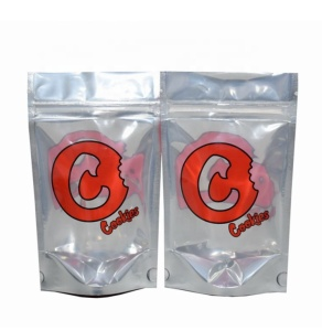 3.5g stand up weed ziplock bags,smell proof red hemp cookies bags