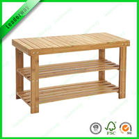 Multifunction home furniture bamboo wood garden shoe rack bench