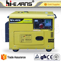 5KW China engine 186FA silent electric diesel generator