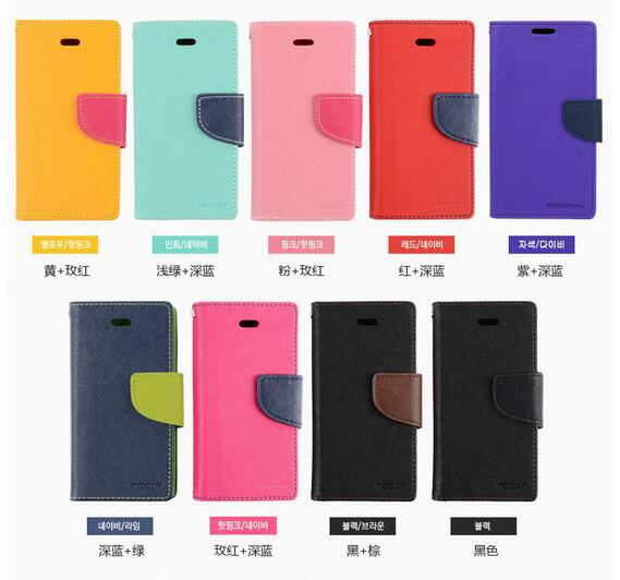 Double colors Stand Wallet Cases For Samsung Galaxy S4 I9500/ With Card Slot PU Leather Case