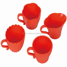 Factory direct sale silicone teacup cupcake molds with 10 years