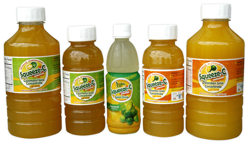 Squeeze-C Calamansi and Dalandan All Natural Juice Concentrate