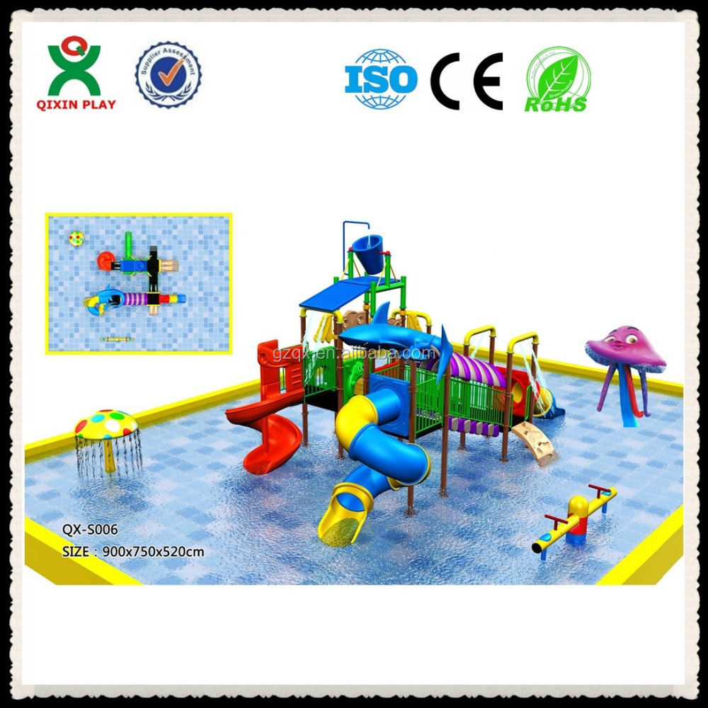 garden water slide/children pool with water slide/monster wave inflatable water slide QX-S006