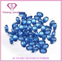 AAA Oval Loose Polishing Ceylon Blue Sapphire Nano Gem Stone Price