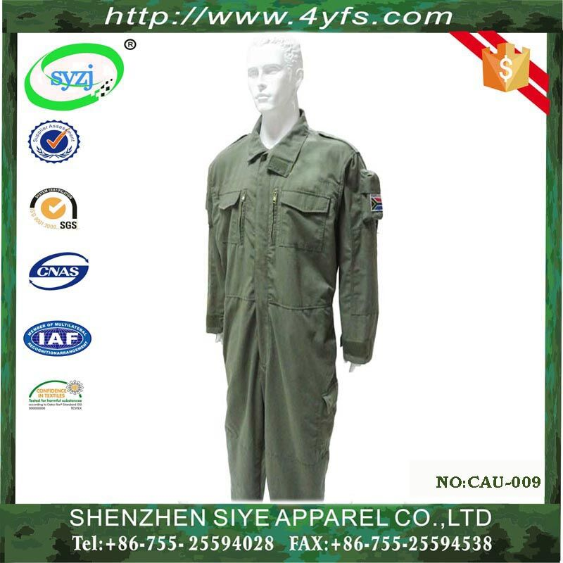 Army green color 100% cotton Professional Safety Coverall Workwear Working Uniform