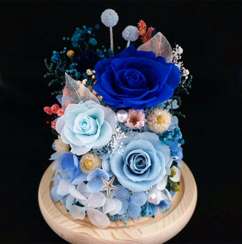 Bojian China silk flowers rose real touch wedding decoration preserved roses real rose resin cheap price