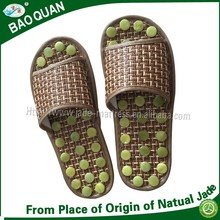 High quality health care foot massager jade stone slippers