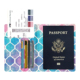 Wholesale custom digital printing soft leather ladies passport holder