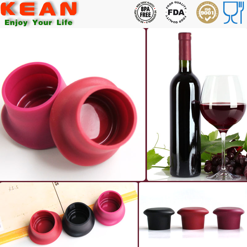 China manufacturer custom soft rubber silicone glass jars cork