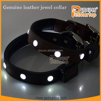 Easy sell items 2016 leather collar pets supplies training lights distribution opportunity