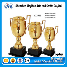 A B C size Trophy Awesome Design Two Color plated Trophy Metal with Lid and Ribbon