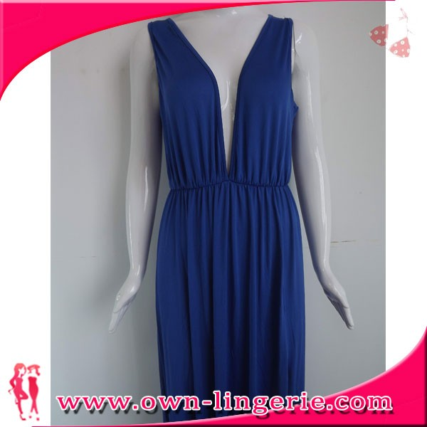 Chinese clothing manufacturer sleeveless side split ladies sexy nighty maxi dresses