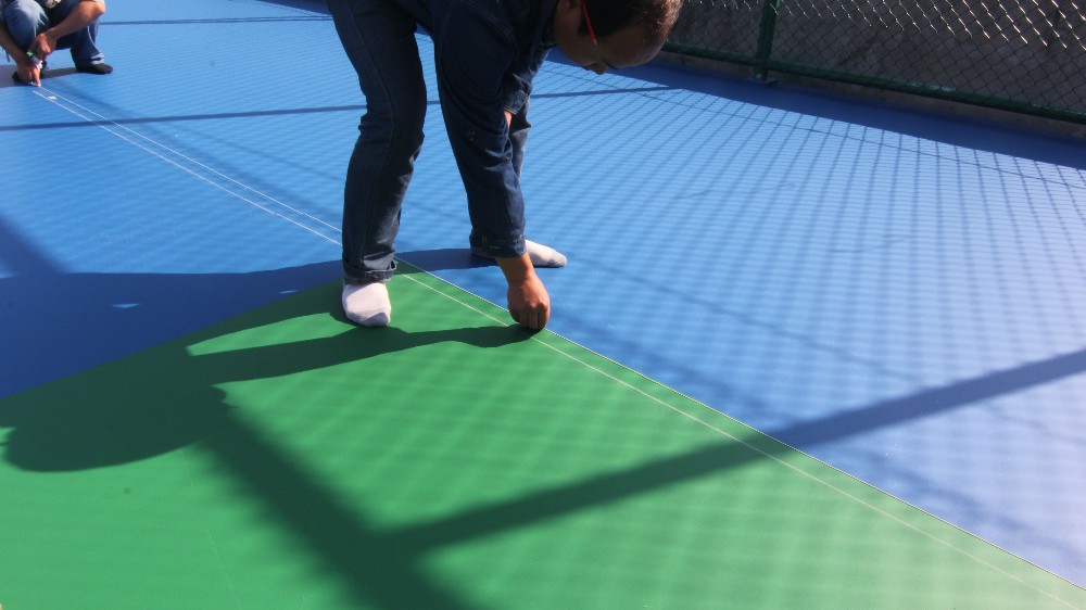 PU outdoor rubber flooring for basketball court