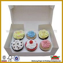 Customized Paper Cupcake Box (1 to 24 cups) with insert card