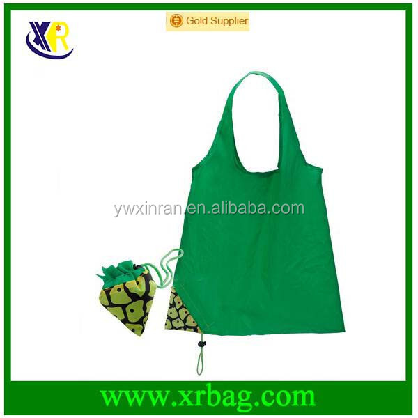 Pineapple Fruit Shape Eco Folding Polyester Reusable Shopping Bag Grocery Storage Promotion Foldable Shopper Bag