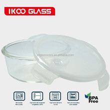 400ml borosilicate pyrex glass lunch box with airtight cover