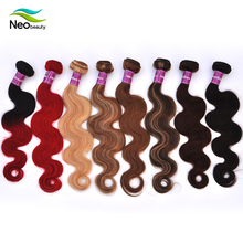 High Quality aliexpress 100% virgin hair brazilian ombre hair sew in weaves