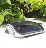 XLN-811B Solar panel Radio usage LED Emergency Hand crank phone charging flashlight