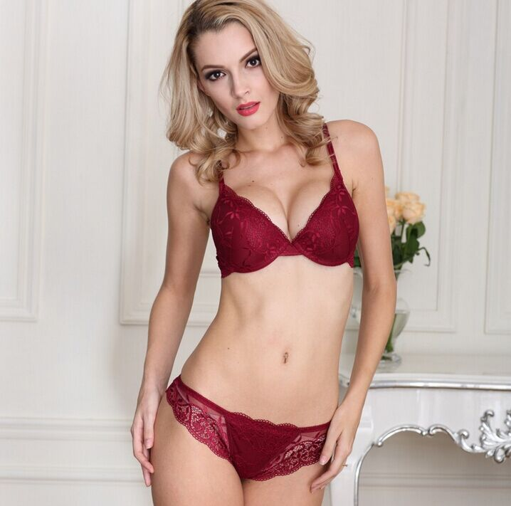 Transparent Lace Bra set Sexy Fancy Bra Panty Set
