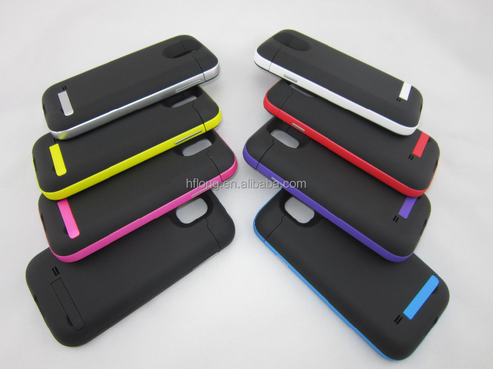 4200mah popular design external backup rechargeable battery case for samsung galaxy s4