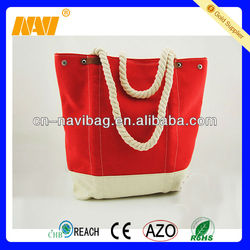 High quality cheap canvas casual tote bag(NV-BE049)