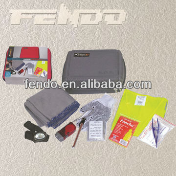 roadside car emergency tool kit first aid kit