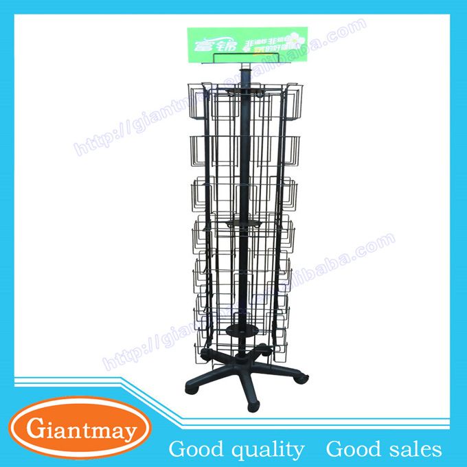 metal spinning gift shop greeting cards for floor display racks