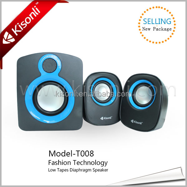 2014 Kisonli Newest Professional surround sound multimedia 2.1 computer speaker