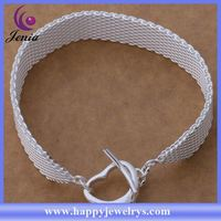Fashionable design charming bracelet silver plated 925 sun silver jewelry bracelet AB263
