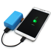 External Battery Charger Portable Charger, Blue Mini Portable Power Bank 5200mAh