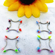 2017 Hot Sale Colorful Acrylic Stainless Steel Magnetic Eyebrow Piercing Stud for Wholesale