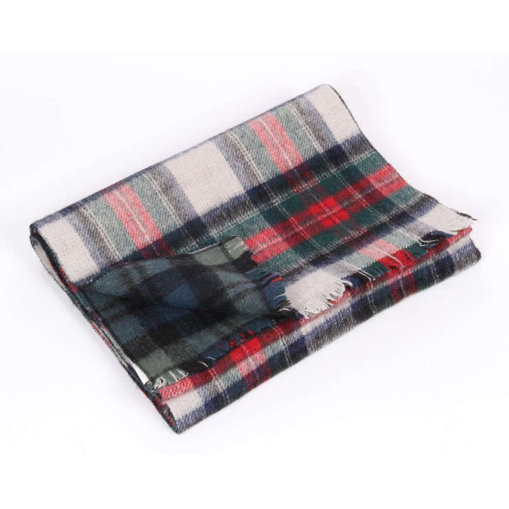 High quality fashionable alpaca wool scarf in plaid