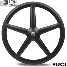 700C Five Spoke Bicycle Wheel Road Bike/Track/Fixie Gear Carbon Wheelset 5 Spoke