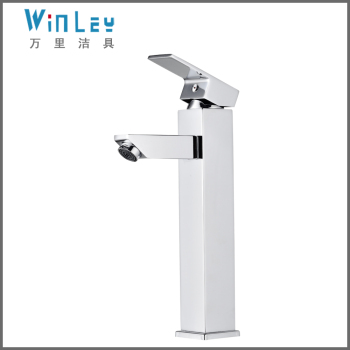 WF10042 CE RoHS Listed Chrome Plated Brass Single Handle Basin water tap