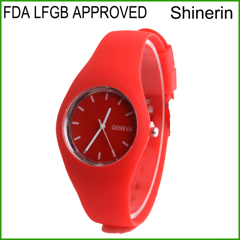Shinerin alibaba promotion ice custom cheap silicone watches wholesales