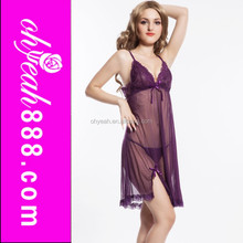 Sexy women underwear nightwear babydoll sleepwear transparent fancy lingerie dress