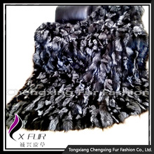 CX-D-82 Luxury Silver Fox Fur Carpet for Home Decoration