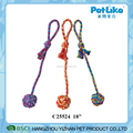 Wholesale Rope Ball With Long Handle Cheap Dog Chewing Rope Toy