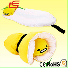 Hot selling Kawaii Cute Egg Yolk Plush Nap Mat With Pillow