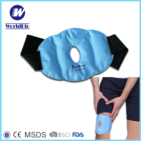 2016 Hot Sale Nylon Reusable Gel Ice Pack Therapy knee cold wrap