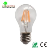 China Wholesale 8W E27 800lm 120V 220V A60 LED Filament High Lumen Dimmable Light Bulb