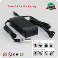 CE ROHS UL SAA 42v 2.0a battery charger / li ion power protable intelligent automatic electric scooter charger