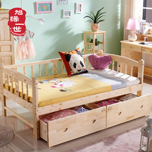custom low cheap pine wood toddler bed in baby crib baby furniture set
