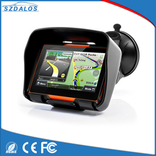 waterproof 256 RAM 8GB Flash 4.3 Inch Motor motorcycle gps navigator with Free Maps