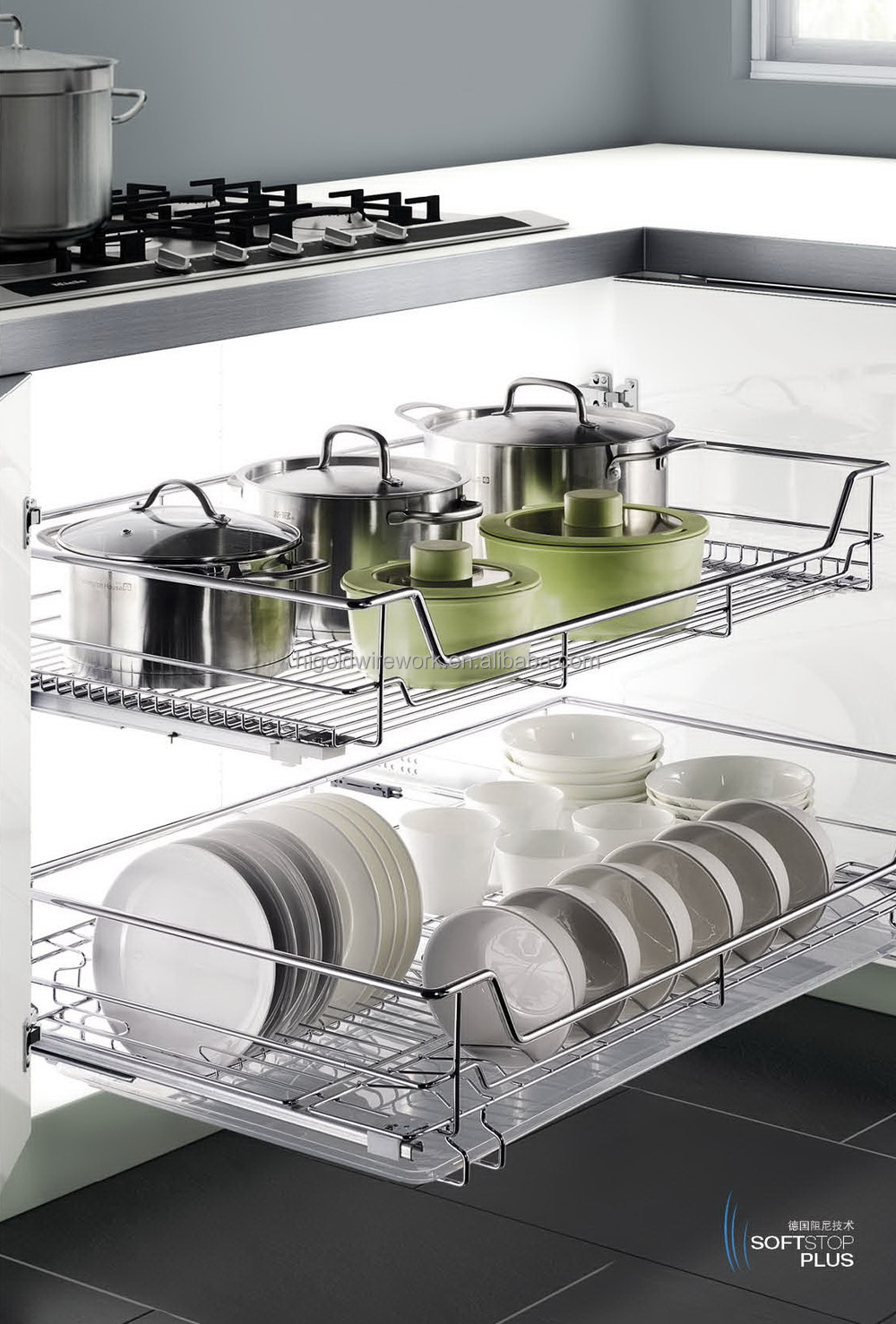 Hot Selling Kitchen Slide Out Storage Wire Basket - Buy Slide Out ...