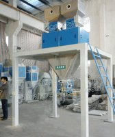 bagging system for carbamide pellets and granules