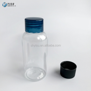 Skin care PET plastic body lotion transparent bottle with screw cap
