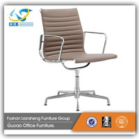 Comfortable cheap middle back Heated Office Chair Without Wheels GAC048C