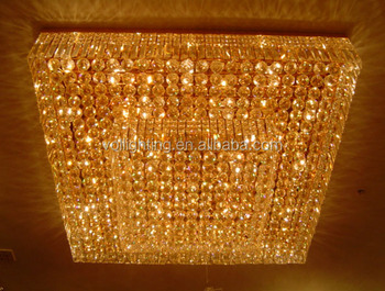 Square shape crystal decor light ceiling lamp VOL