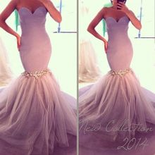 ZH1855G Sexy Sweetheart Backless Mermaid Formal Evening Dresses Slim Sequins Tulles Prom Gown